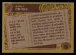 1986 Topps #162  Randy Cross  Back Thumbnail