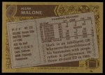 1986 Topps #281  Mark Malone  Back Thumbnail