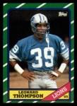 1986 Topps #247  Leonard Thompson  Front Thumbnail