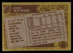1986 Topps #253  Bobby Watkins  Back Thumbnail