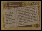 1986 Topps #263  Ross Browner  Back Thumbnail