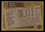 1986 Topps #215  Gerry Ellis  Back Thumbnail