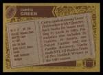 1986 Topps #250  Curtis Green  Back Thumbnail