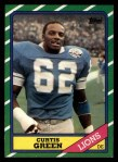 1986 Topps #250  Curtis Green  Front Thumbnail