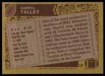 1986 Topps #391  Darryl Talley  Back Thumbnail