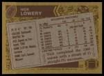 1986 Topps #308  Nick Lowery  Back Thumbnail
