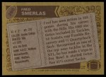 1986 Topps #390  Fred Smerlas  Back Thumbnail