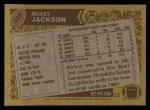 1986 Topps #346  Rickey Jackson  Back Thumbnail