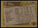 1986 Topps #325  Rohn Stark  Back Thumbnail