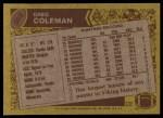 1986 Topps #302  Greg Coleman  Back Thumbnail