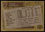 1986 Topps #307  Carlos Carson  Back Thumbnail