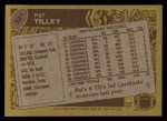 1986 Topps #331  Pat Tilley  Back Thumbnail