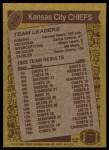 1986 Topps #303   -  Herman Heard / Carlos Carson / Albert Lewis / Bill Maas / Deron Cherry Chiefs Leaders Back Thumbnail