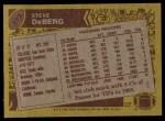 1986 Topps #373  Steve DeBerg  Back Thumbnail