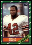 1986 Topps #362  Gerald Riggs  Front Thumbnail