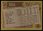 1986 Topps #362  Gerald Riggs  Back Thumbnail