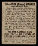 1948 Leaf #70  Honus Wagner  Back Thumbnail