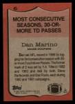1987 Topps #6   -  Dan Marino Record Breaker Back Thumbnail