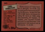 1987 Topps #90  Carl Hairston  Back Thumbnail