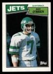 1987 Topps #127  Ken O'Brien  Front Thumbnail