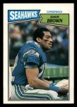 1987 Topps #182  Dave Brown  Front Thumbnail