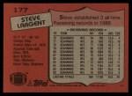 1987 Topps #177  Steve Largent  Back Thumbnail