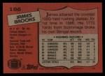 1987 Topps #186  James Brooks  Back Thumbnail
