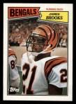 1987 Topps #186  James Brooks  Front Thumbnail