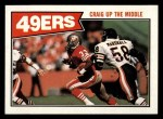 1987 Topps #111   -  Roger Craig / Jerry Rice / Ronnie Lott / Charles Haley / Carlton Williamson 49ers Leaders Front Thumbnail