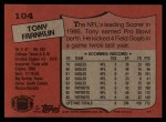 1987 Topps #104  Tony Franklin  Back Thumbnail