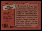1987 Topps #166  Irv Eatman  Back Thumbnail
