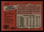 1987 Topps #265  Timmy Newsome  Back Thumbnail