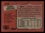 1987 Topps #245  Mark Brown  Back Thumbnail