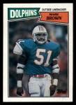 1987 Topps #245  Mark Brown  Front Thumbnail
