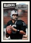 1987 Topps #214  Jim Plunkett  Front Thumbnail