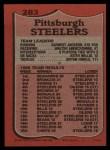 1987 Topps #283   Steelers Leaders Back Thumbnail