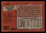 1987 Topps #348  Billy Ray Smith  Back Thumbnail