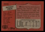 1987 Topps #360  Mossy Cade  Back Thumbnail