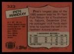 1987 Topps #323  Pete Mandley  Back Thumbnail