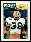 1987 Topps #352  Kenneth Davis  Front Thumbnail
