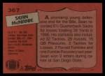1987 Topps #367  Sean McNanie  Back Thumbnail