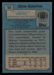 1988 Topps #50  Don Griffin  Back Thumbnail