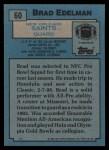 1988 Topps #60  Brad Edelman  Back Thumbnail