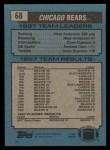 1988 Topps #68   -  Neal Anderson / Dave Duerson / Richard Dent  Bears Leaders Back Thumbnail