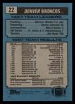 1988 Topps #22   Broncos Leaders Back Thumbnail