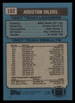 1988 Topps #102   Oilers Leaders Back Thumbnail