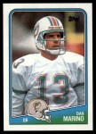 1988 Topps #190  Dan Marino  Front Thumbnail