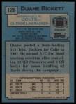 1988 Topps #128  Duane Bickett  Back Thumbnail