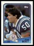 1988 Topps #128  Duane Bickett  Front Thumbnail