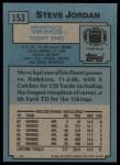 1988 Topps #153  Steve Jordan  Back Thumbnail